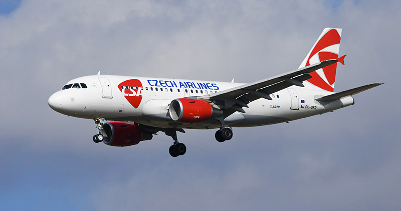 Jet aircraft of The czech airlines